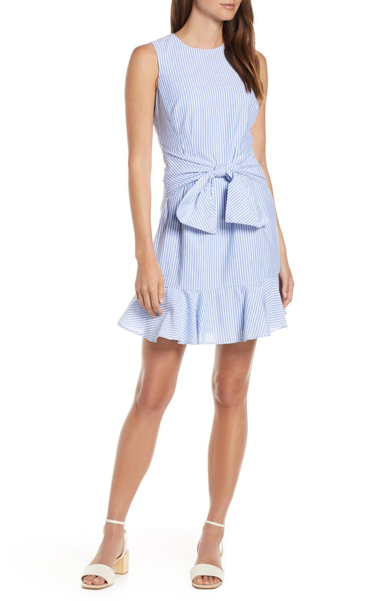 1901 Bow Fit & Flare Dress, Main, color, 420