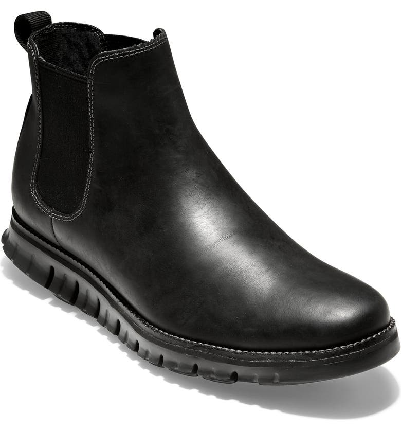 COLE HAAN ZerøGrand Waterproof Chelsea Boot, Main, color, 001