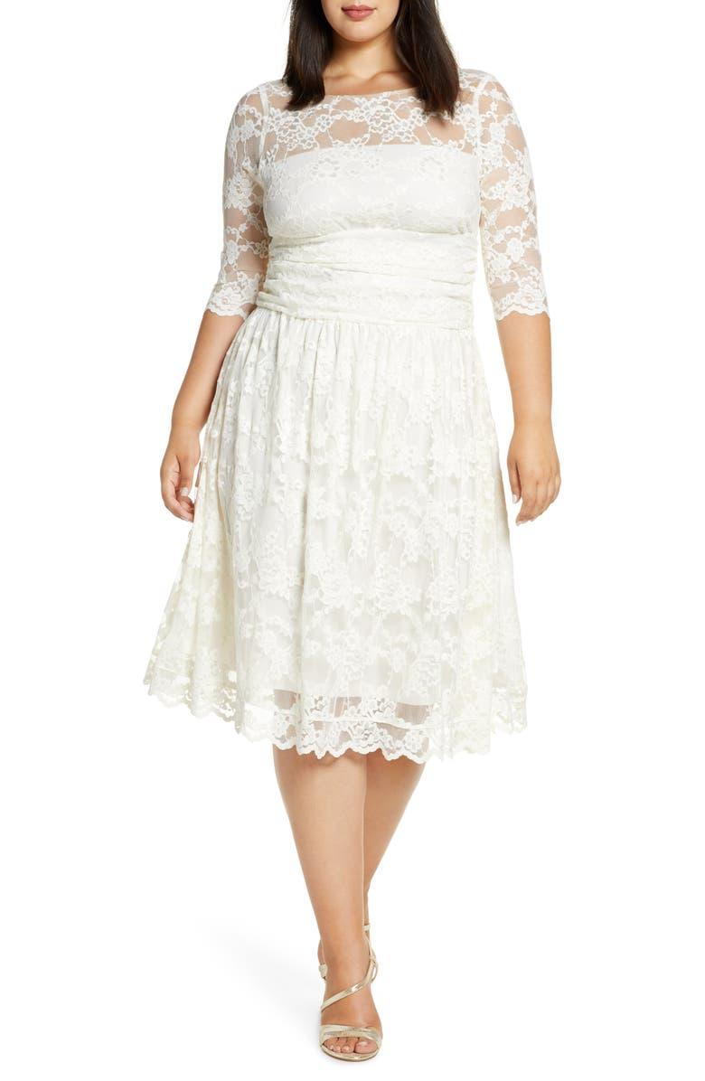 KIYONNA Aurora Lace Dress, Main, color, IVORY