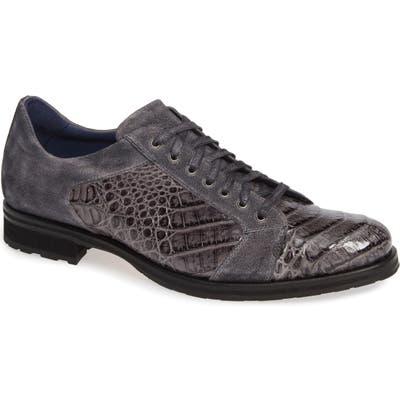Mezlan Olsen Crocodile Plain Toe Derby, Grey