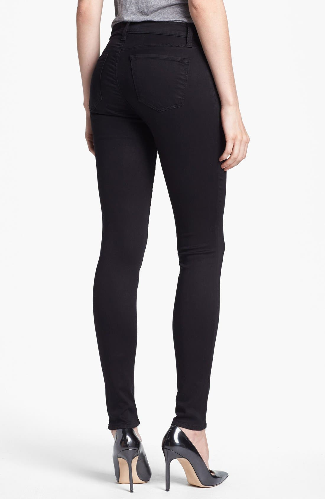 ,                             '485' Mid Rise Super Skinny Jeans,                             Alternate thumbnail 3, color,                             002