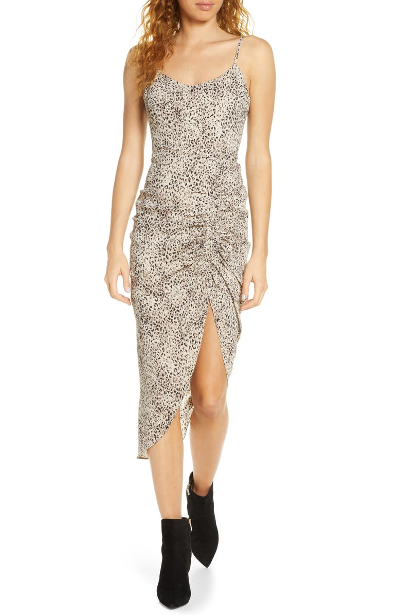 BB DAKOTA On the Prowl Party Animal Print Ruched Dress, Main, color, 230
