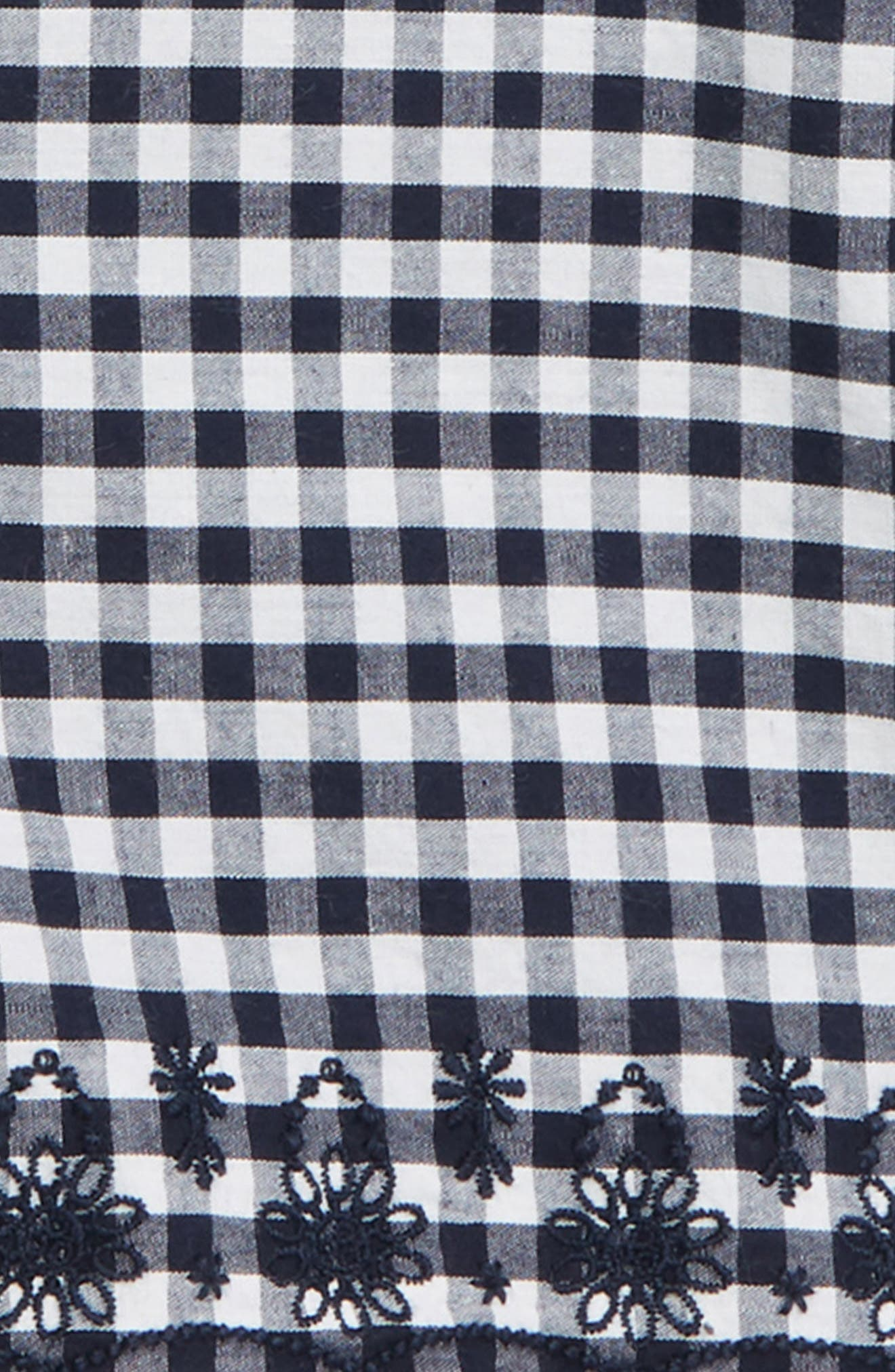 ,                             Embroidered Gingham Shorts,                             Alternate thumbnail 2, color,                             NAVY PEACOAT GINGHAM
