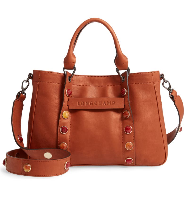 LONGCHAMP Small 3D Pierre Leather Tote, Main, color, 200