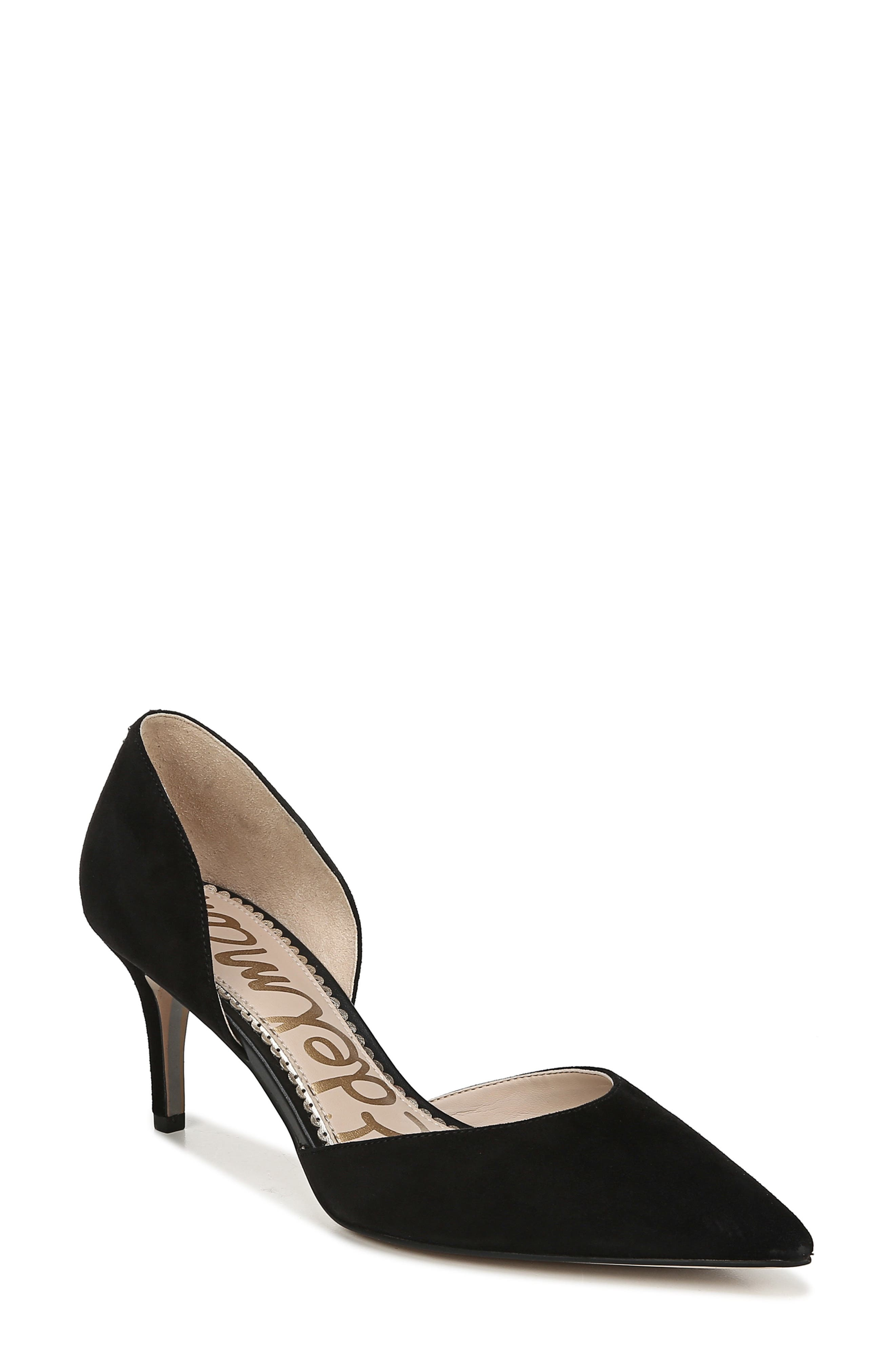 ,                             Jaina Pump,                             Main thumbnail 1, color,                             BLACK SUEDE LEATHER