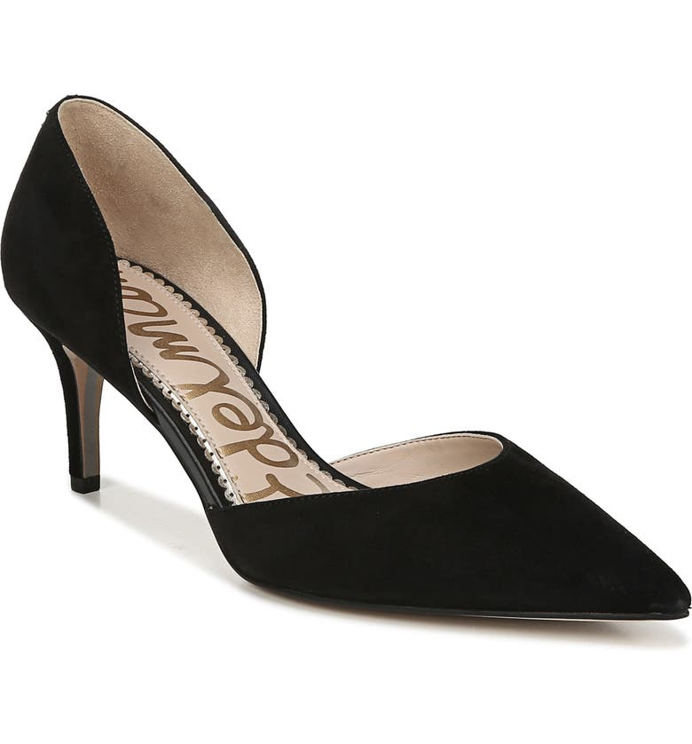 SAM EDELMAN Jaina Pump, Main, color, BLACK SUEDE