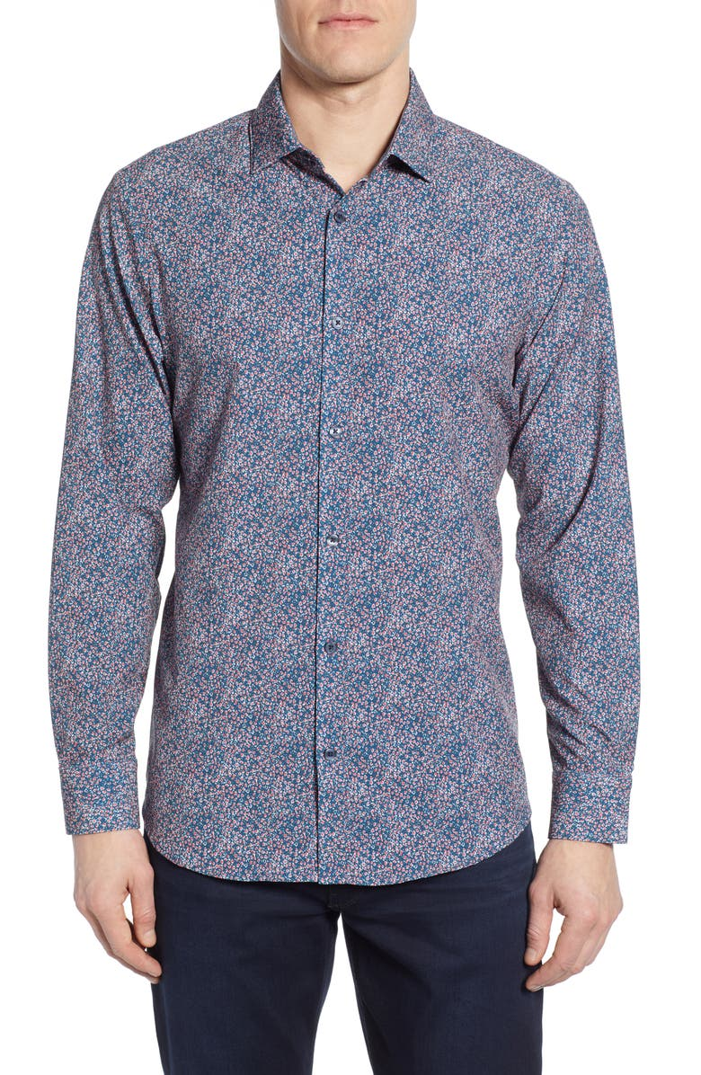 Kincaid Trim Fit Print Performance Sport Shirt by Mizzen+Main
