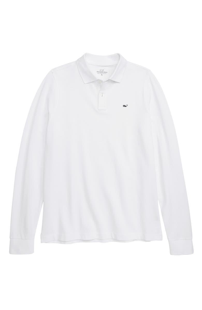 VINEYARD VINES Classic Piqué Cotton Polo, Main, color, 100