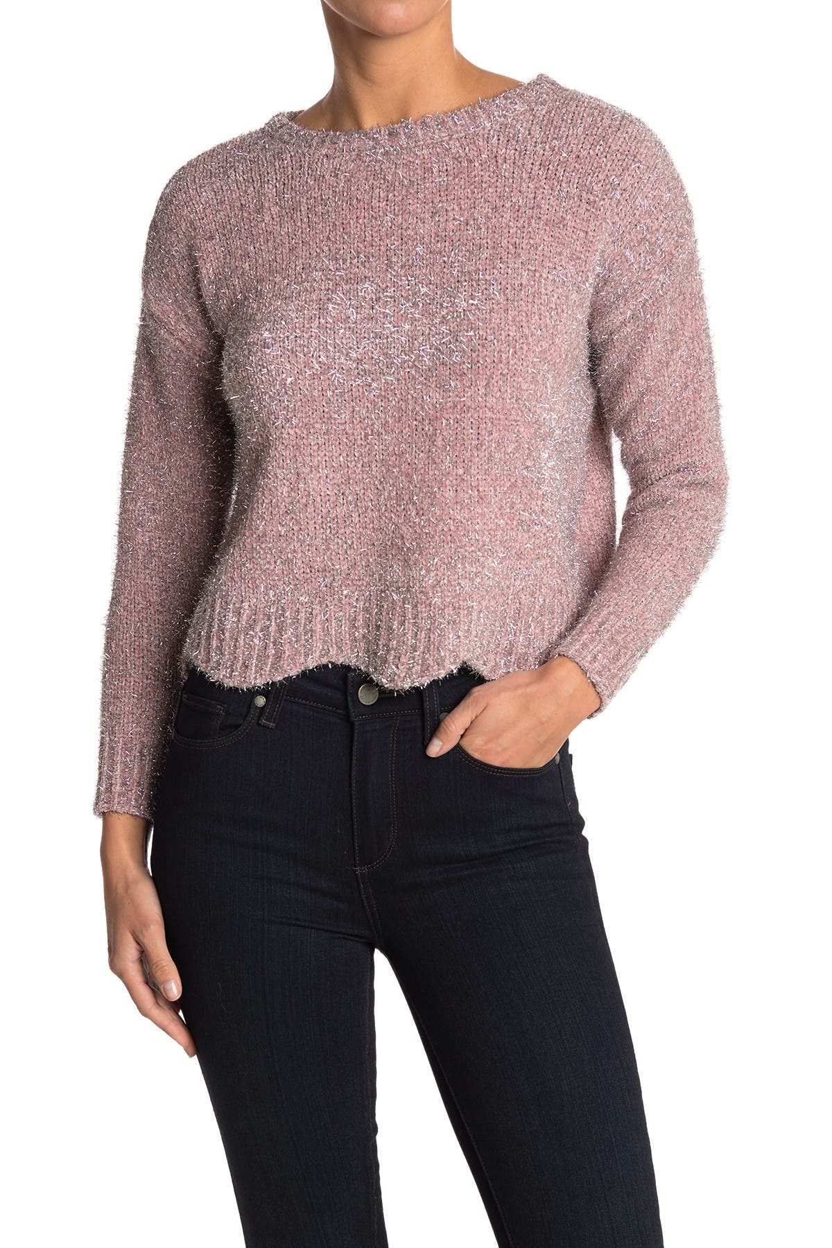 Image of Love by Design Scallop Lurex Sweater