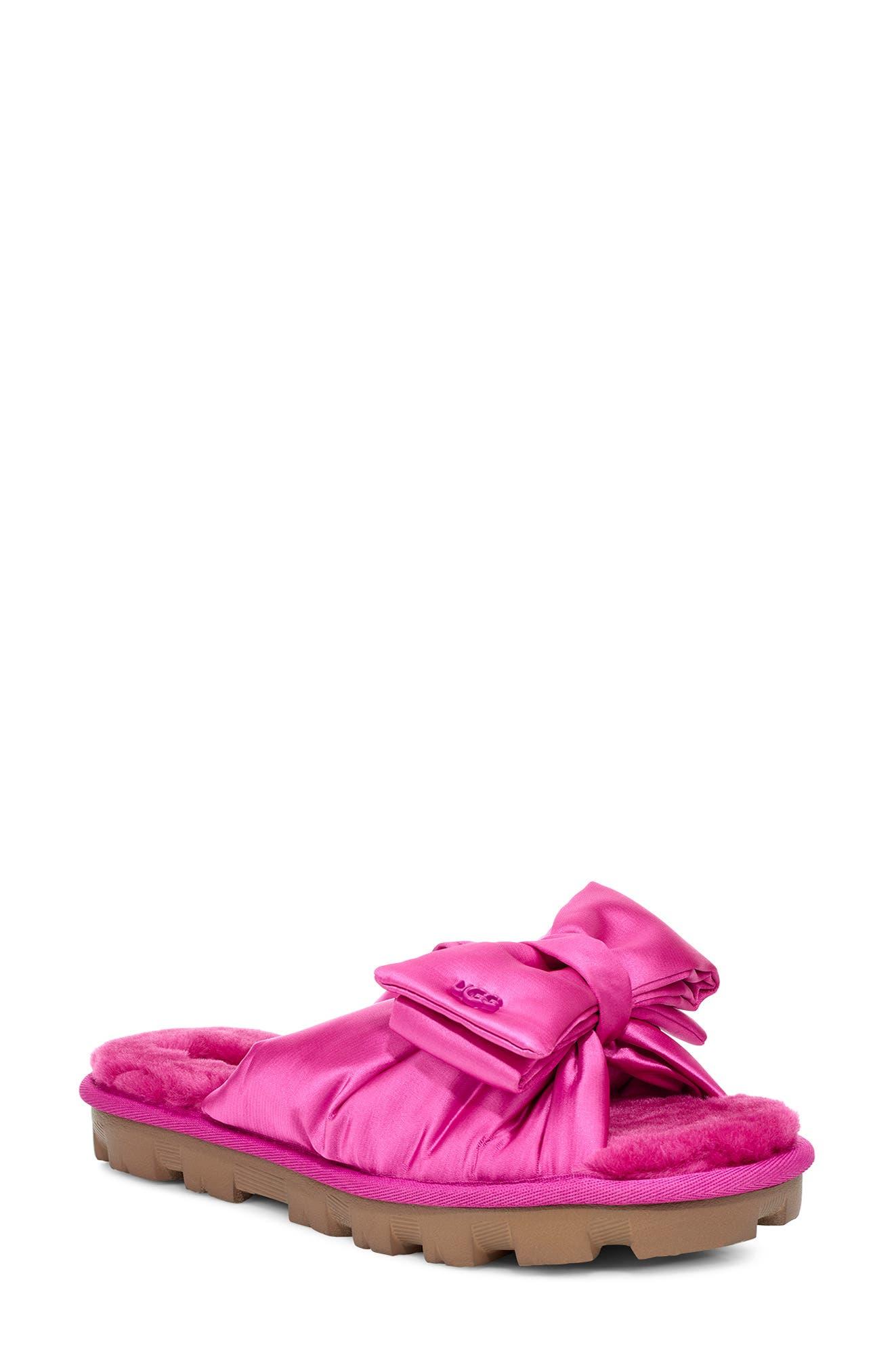 Ugg® Lushette Puffer Genuine Shearling Slide Slipper (Women)