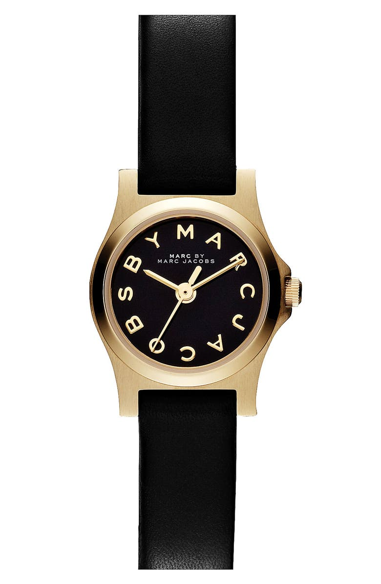 7055239ae9c48 MARC JACOBS 'Henry Dinky' Leather Strap Watch | Nordstrom