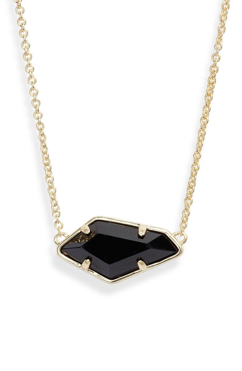 KENDRA SCOTT Lilith Pendant Necklace, Main, color, GOLD/ BLACK
