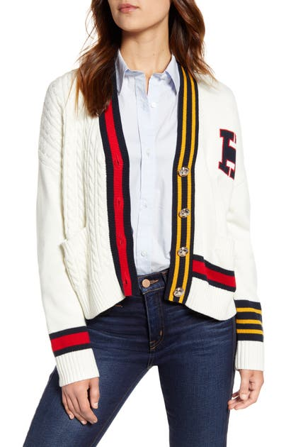 Tommy Hilfiger Tops CABLE VARSITY CARDIGAN
