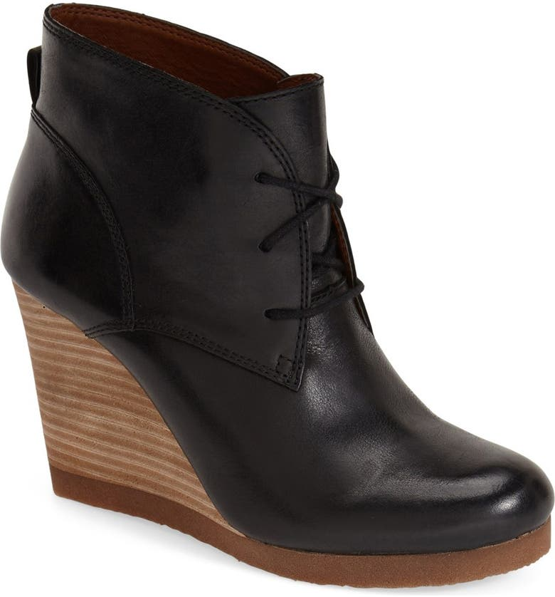 LUCKY BRAND 'Taheeti' Wedge Bootie (Women), Main, color, 001