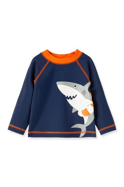Image of Little Me Shark Long Sleeve Rashguard