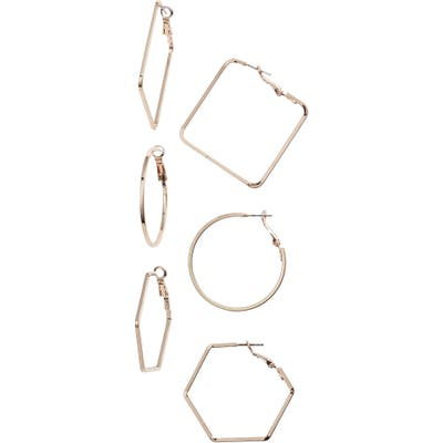 8 Other Reasons Amber 3-Pair Hoop Earring Set