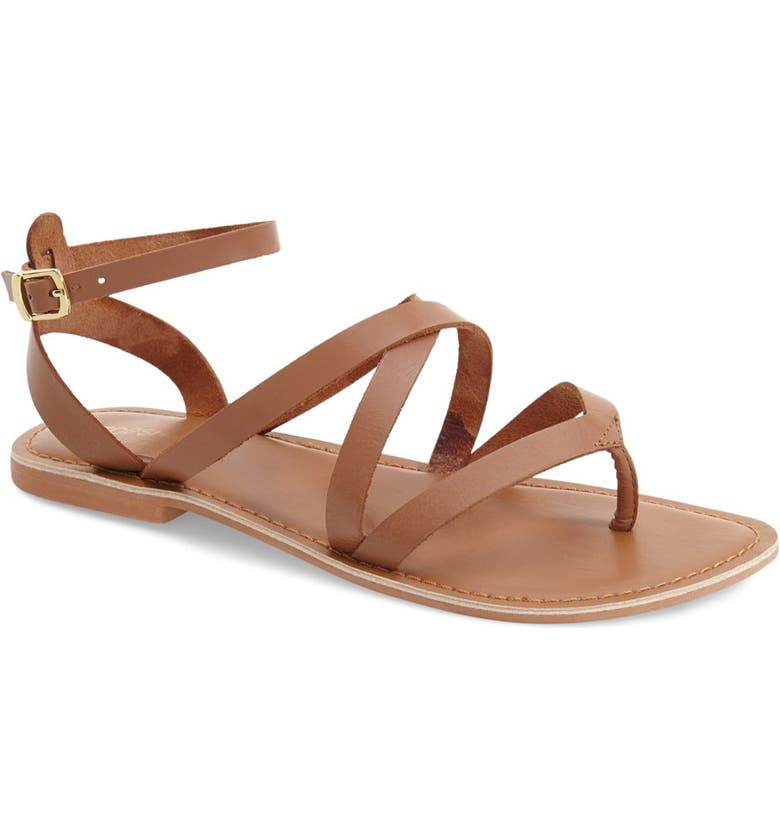 TOPSHOP 'Hercules' Strappy Leather Thong Sandal, Main, color, 210
