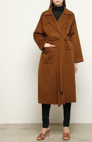 Meryl Belted Wool Blend Coat, video thumbnail