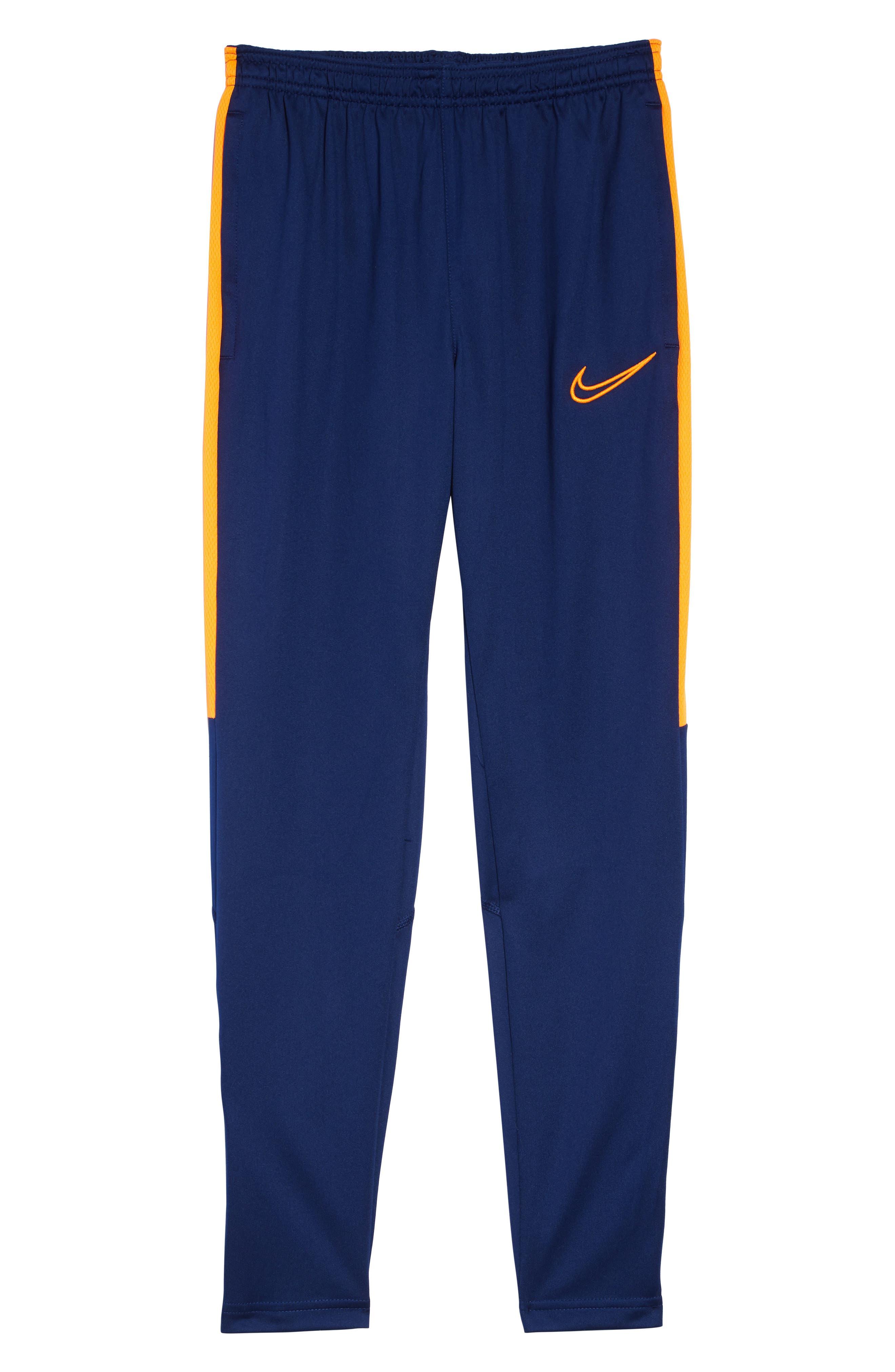 Academy Dri-FIT Sweatpants, Main, color, BLUE VOID / TOTAL ORANGE