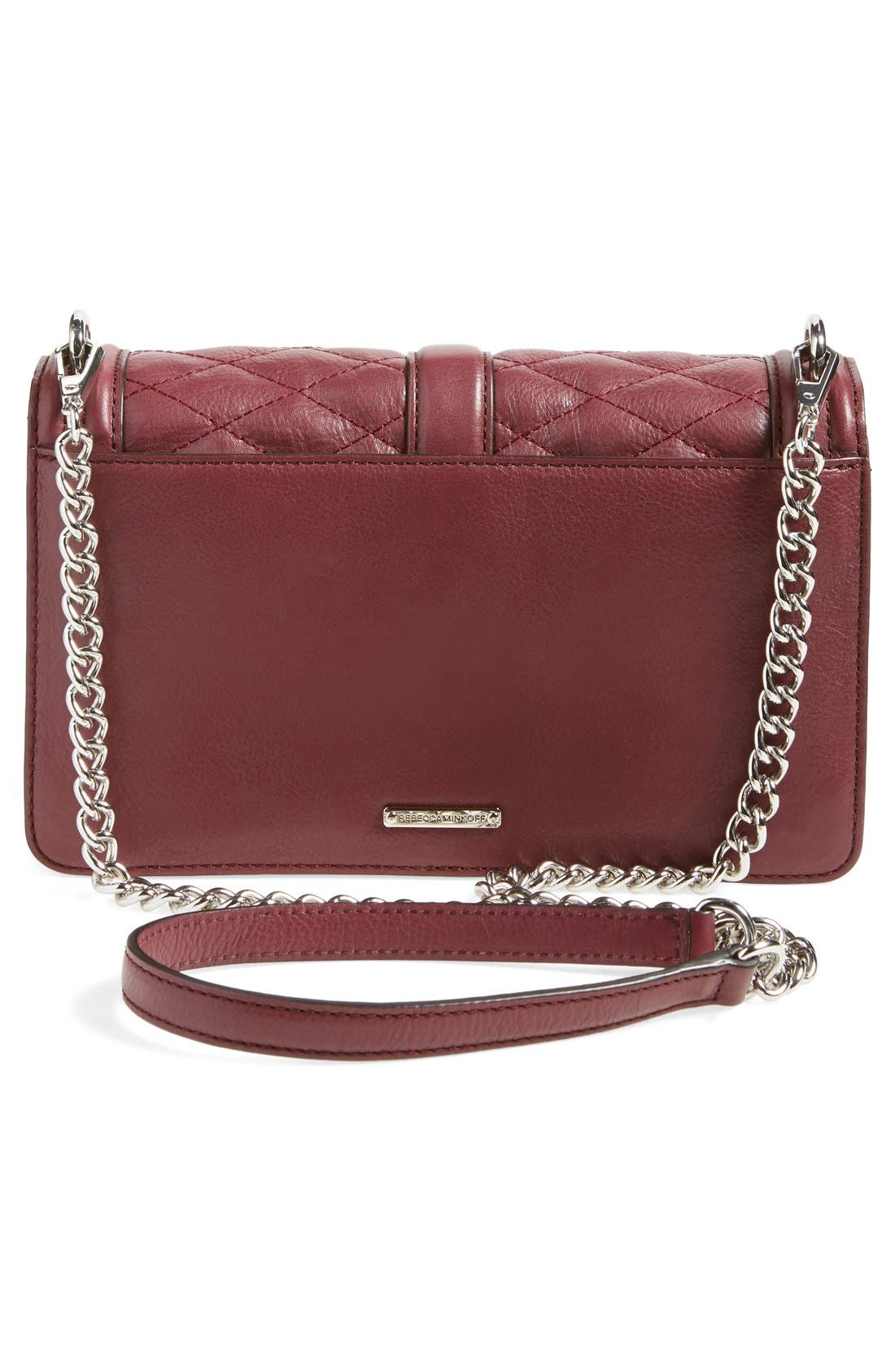 ,                             Love Leather Crossbody Bag,                             Alternate thumbnail 156, color,                             930