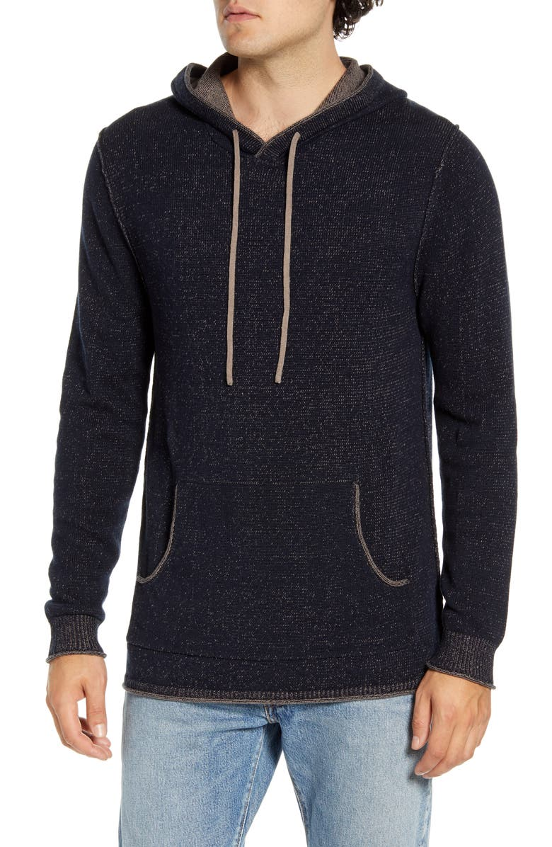 THE NORMAL BRAND Jimmy Hoodie Sweater, Main, color, NAVY