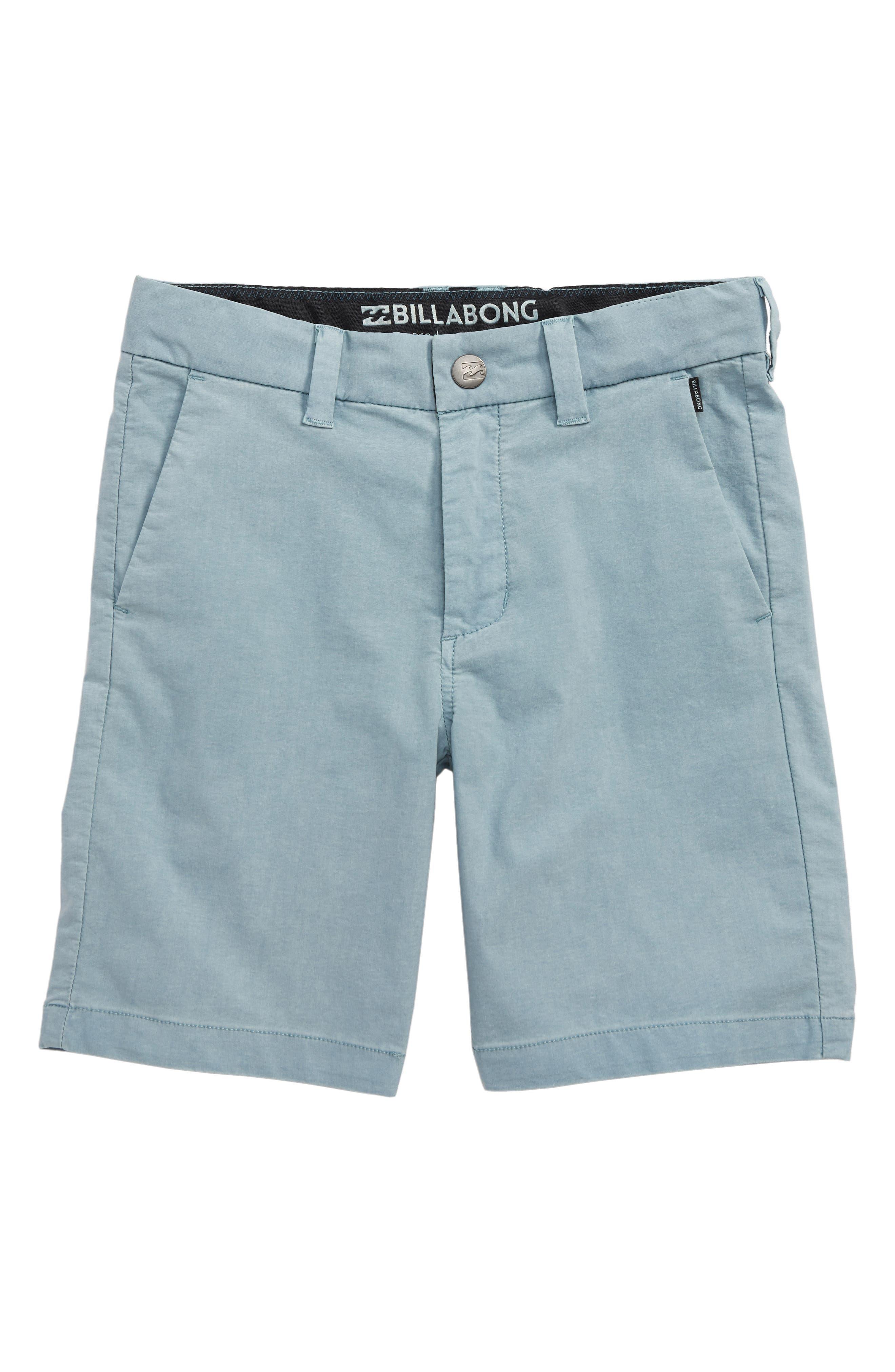 Boys Billabong New Order X Overdye Hybrid Shorts Size M (5)  Blue