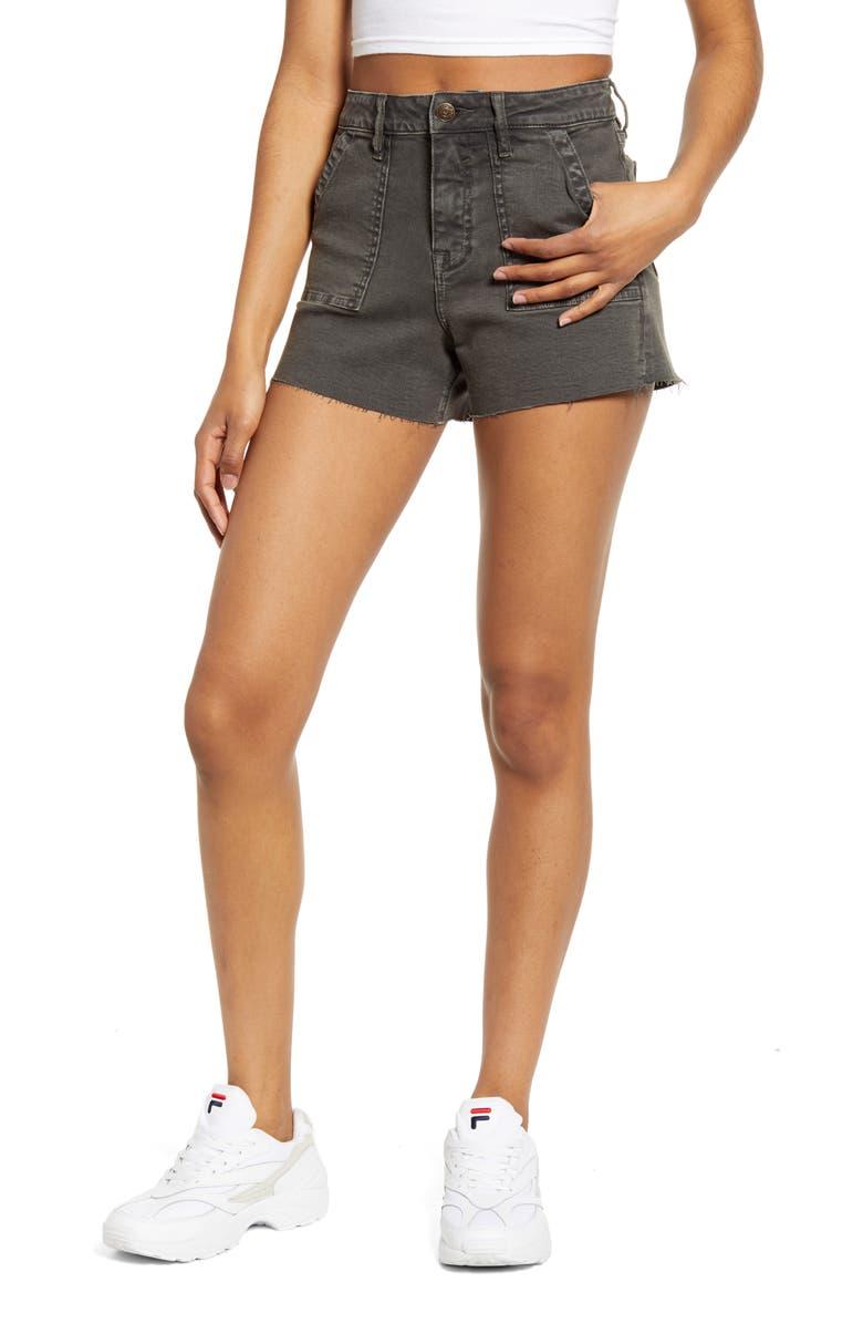 VIGOSS Utilitarian Denim Shorts, Main, color, 020