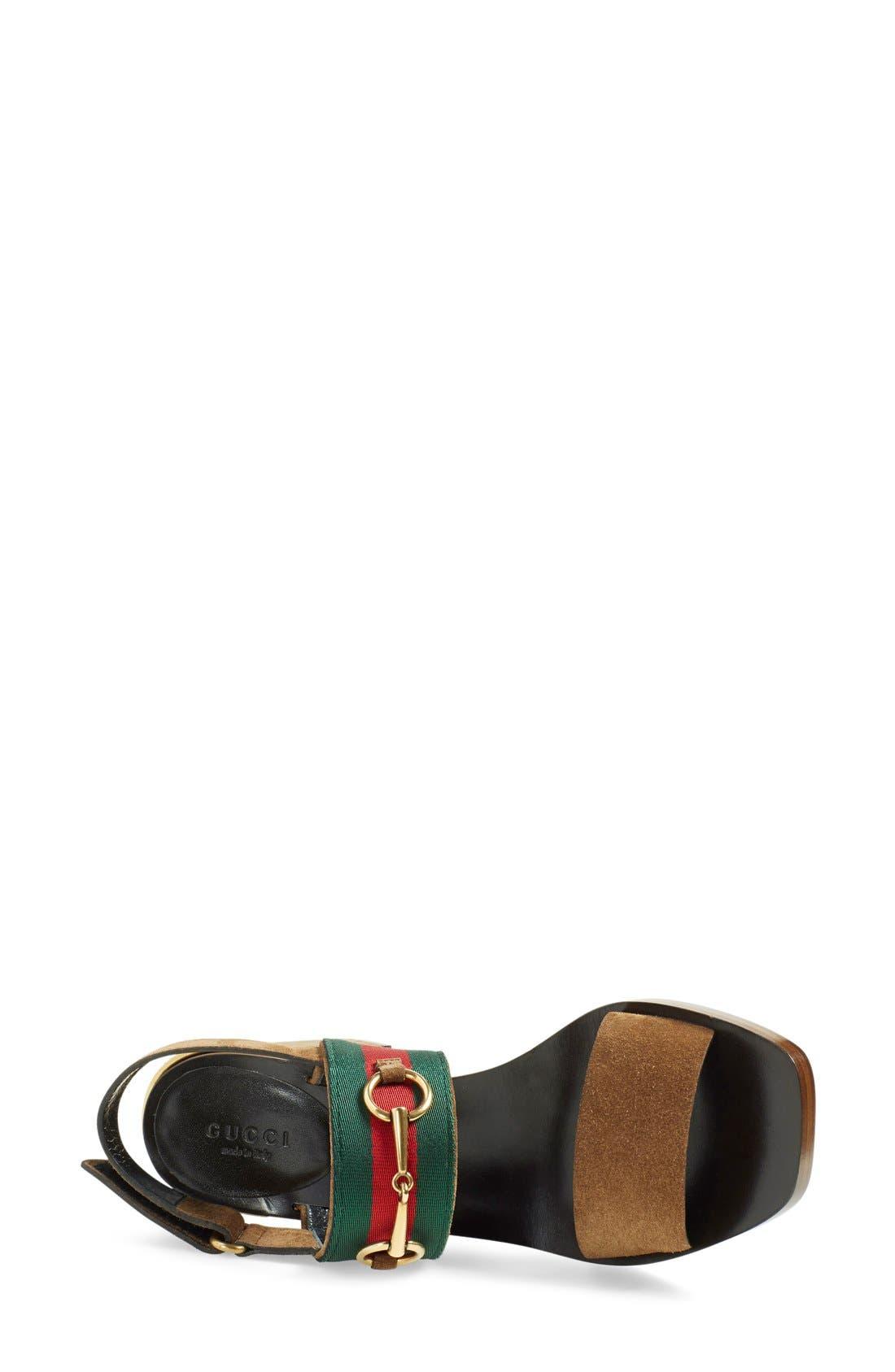 ,                             'Querelle' Horsebit Slingback Sandal,                             Alternate thumbnail 4, color,                             250