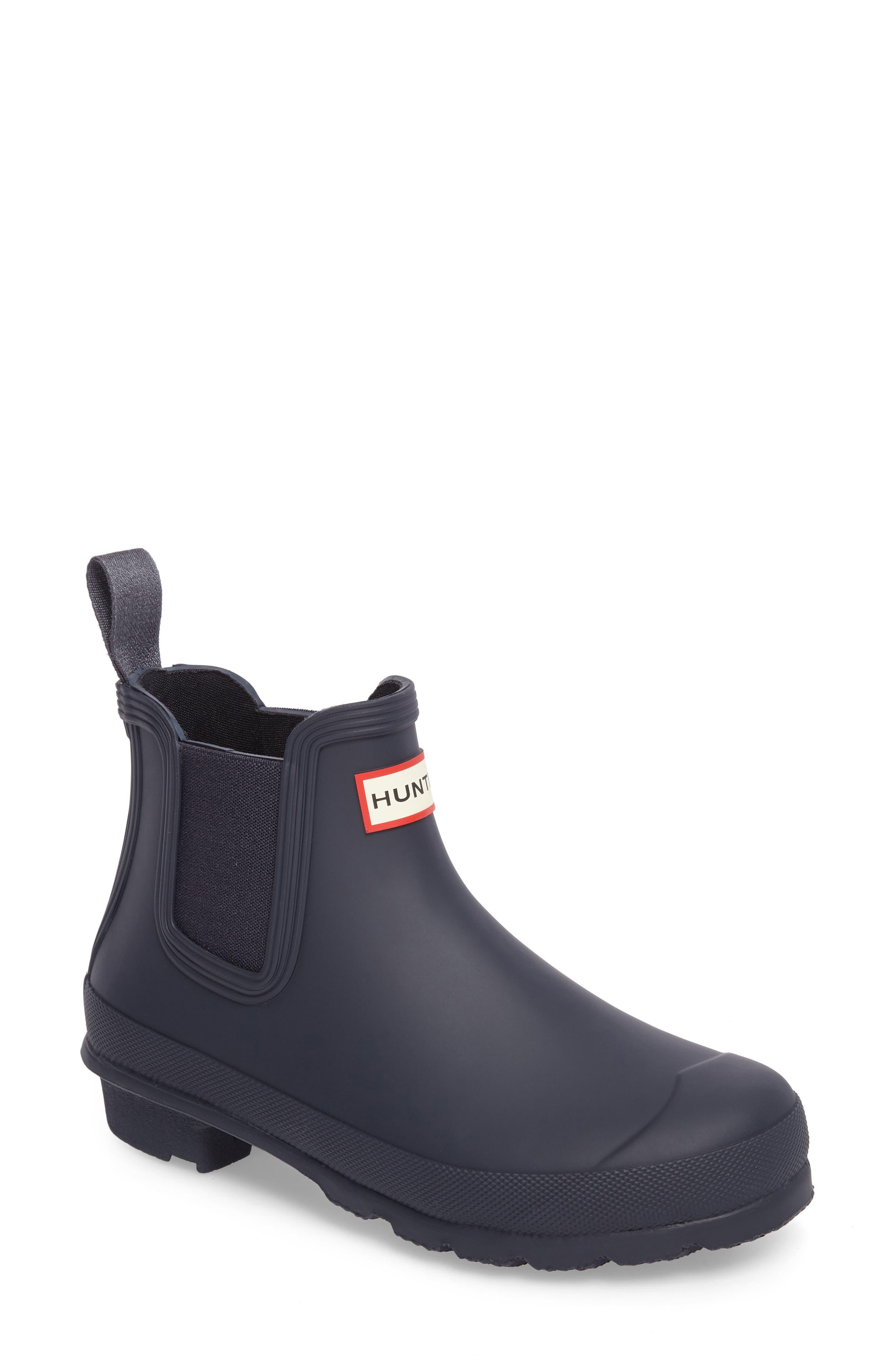 Hunter Original Waterproof Chelsea Rain Boot, Blue