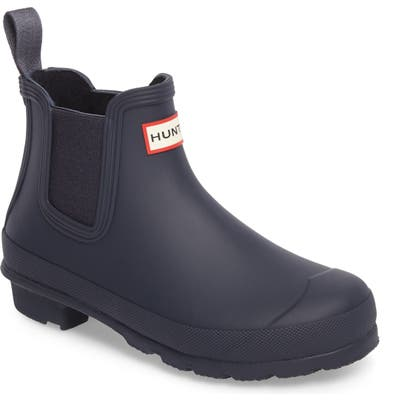 Hunter Original Waterproof Chelsea Rain Boot, Blue