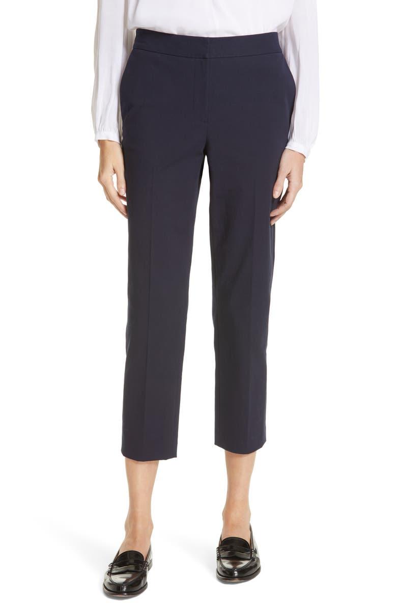 NORDSTROM SIGNATURE Slim Leg Stretch Cotton Pants, Main, color, 401