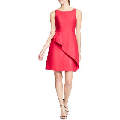 Halston Heritage Structured Cocktail Dress, Red