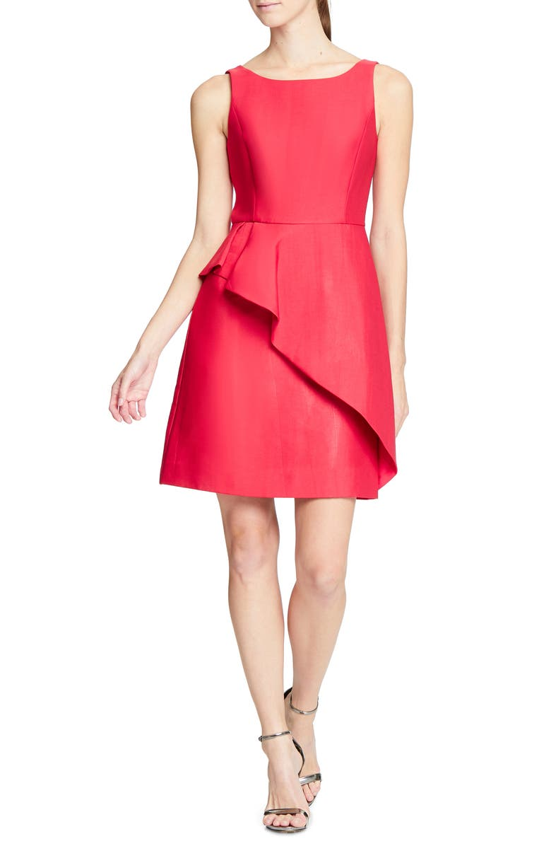 HALSTON HERITAGE Structured Cocktail Dress, Main, color, 600