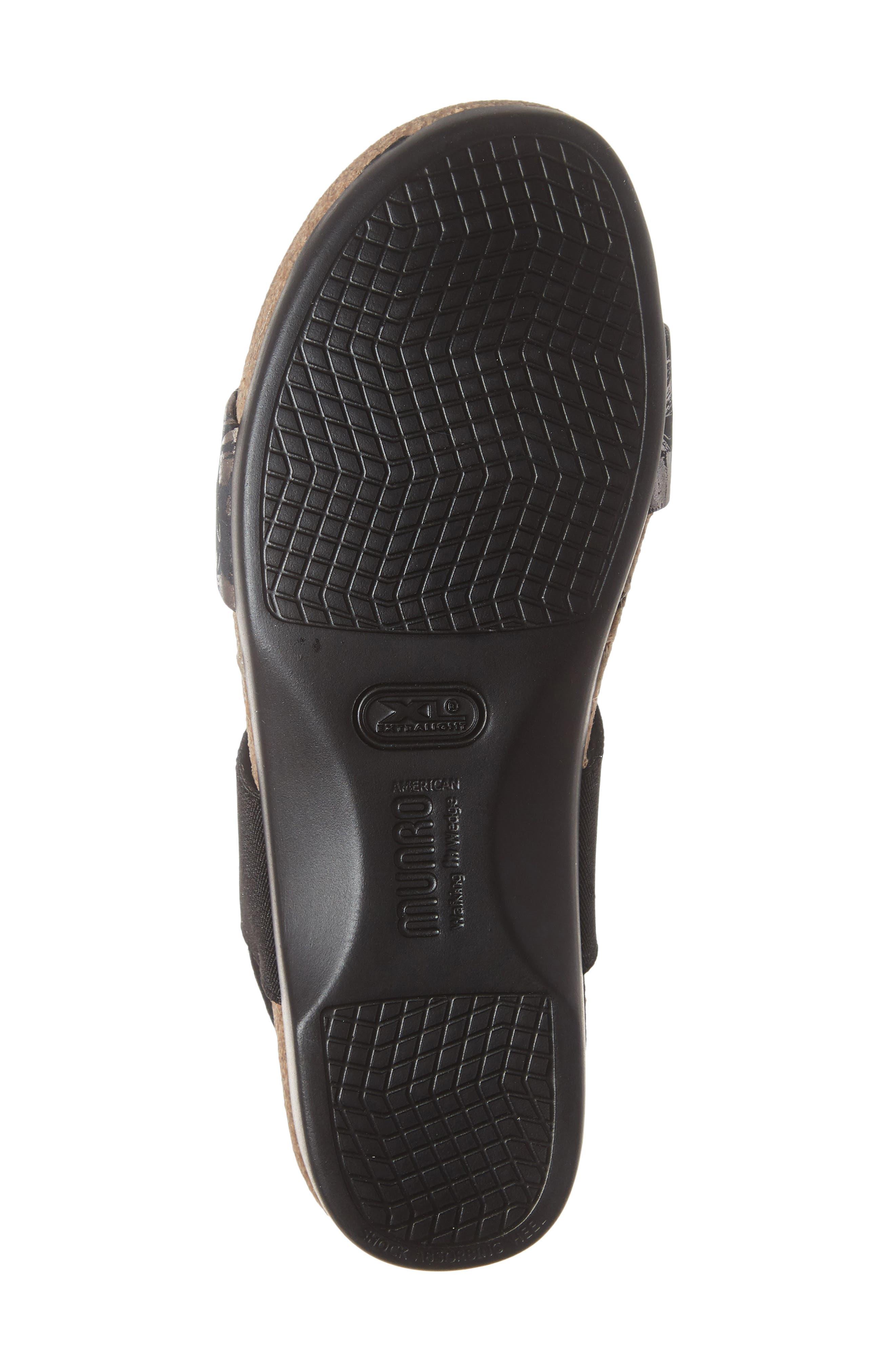 ,                             'Pisces' Sandal,                             Alternate thumbnail 6, color,                             DARK FLORAL PRINT LEATHER