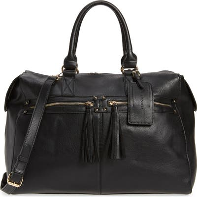 Sole Society Faux Leather Duffle Bag - Black