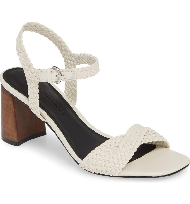 SIGERSON MORRISON Darby Woven Sandal, Main, color, CHIC CREAM