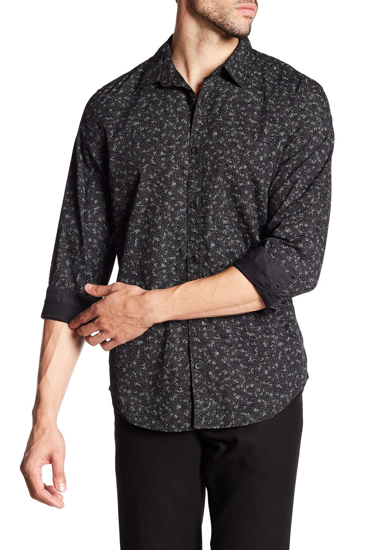 Image of Calvin Klein Jeans Modern Fit Microfloral Patterned Shirt