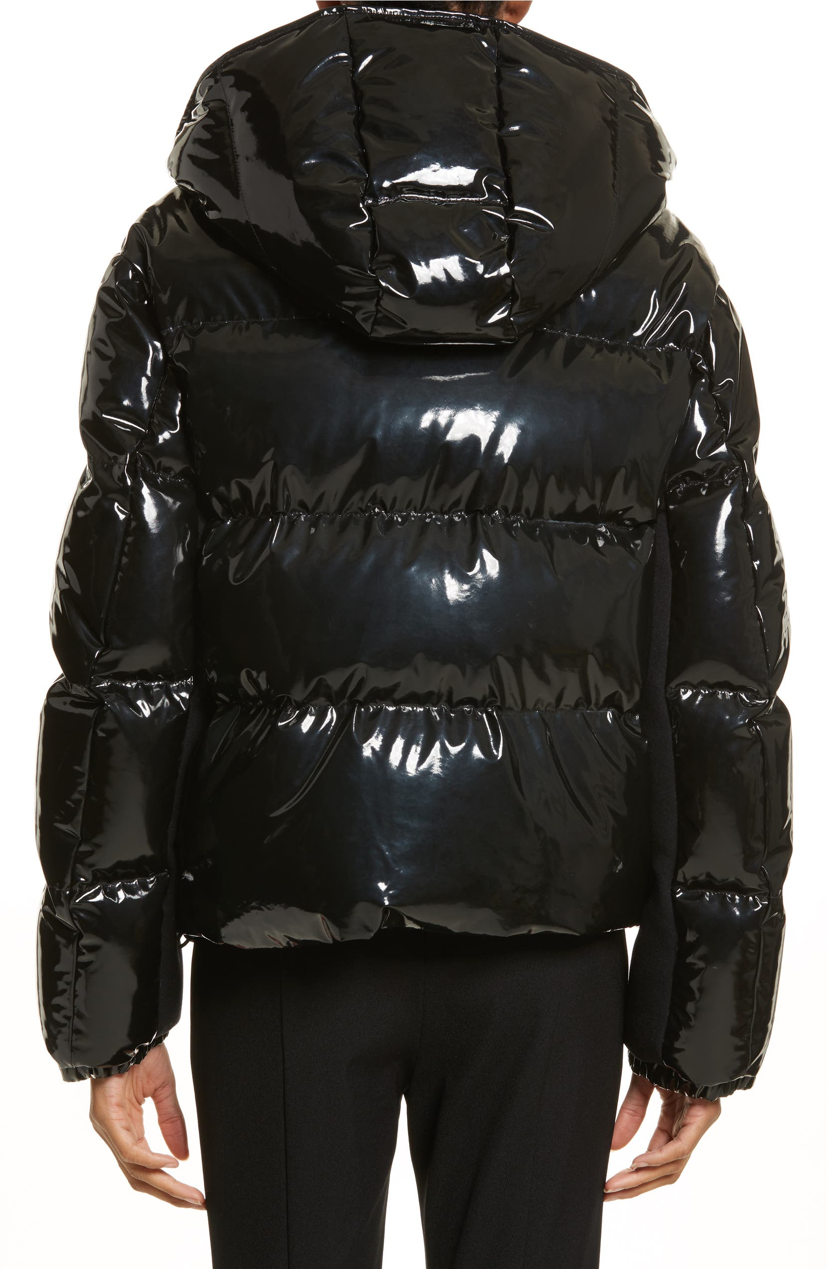 d07fb3182 Gaura Shiny Down Quilted Puffer Coat