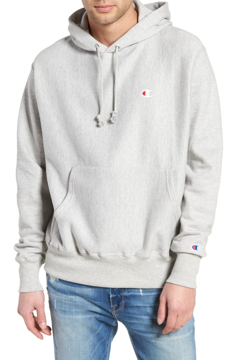 CHAMPION Reverse Weave<sup>®</sup> Pullover Hoodie, Main, color, OXFORD GREY
