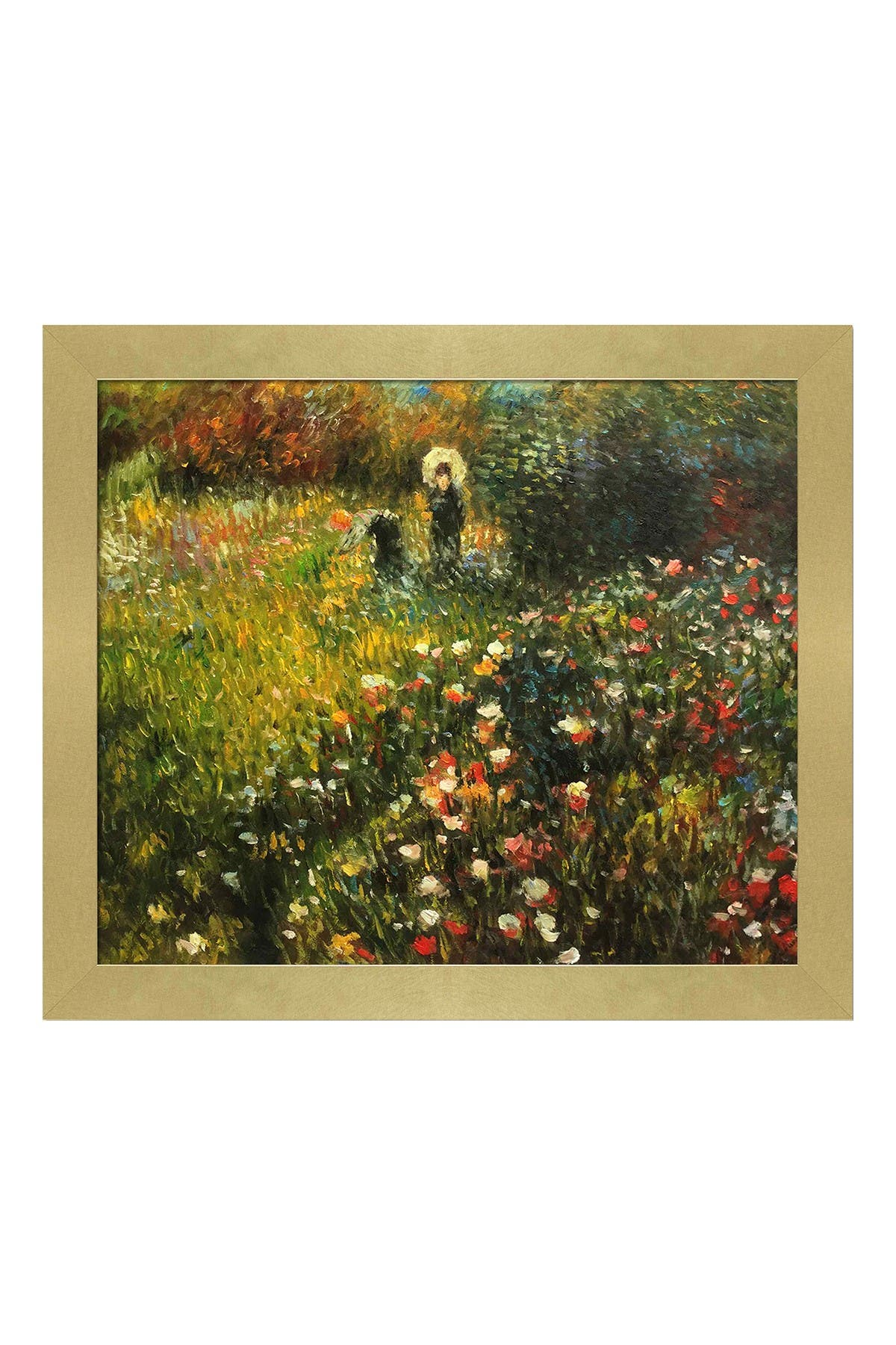 Woman with a parasol in a Garden (Frau mi Sonnenschirm) with Semplice Specchio Frame, 24\\\