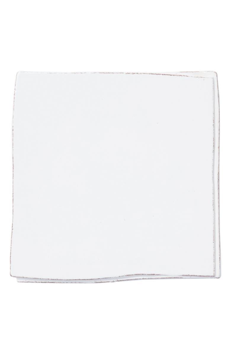 VIETRI Lastra Stoneware Trivet, Main, color, WHITE