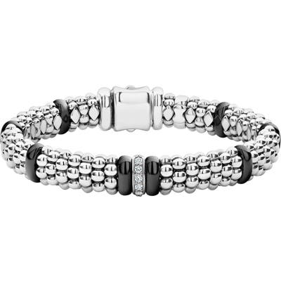 Lagos Black Caviar Diamond One-Link Bracelet