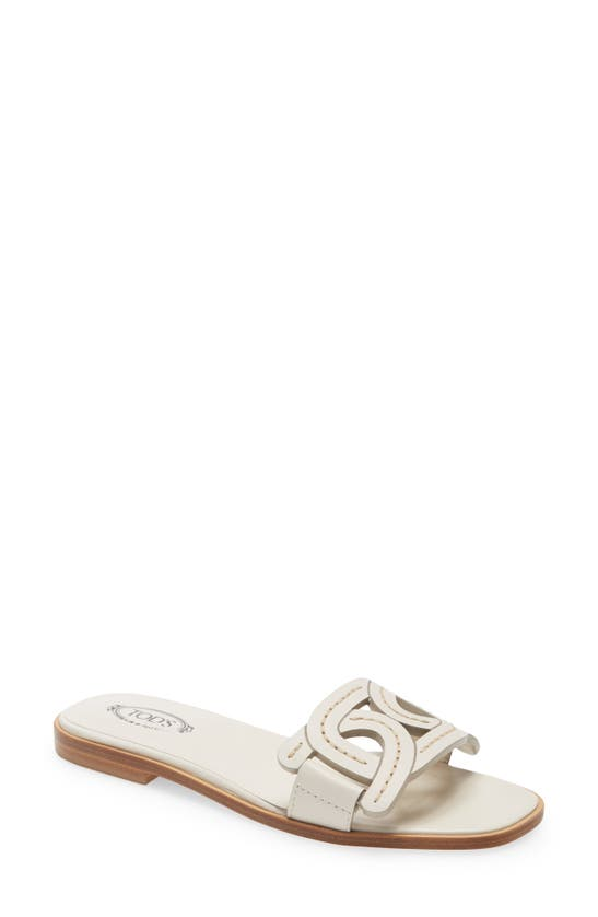 Tod's Leathers KATE CHAIN DETAIL SLIDE SANDAL
