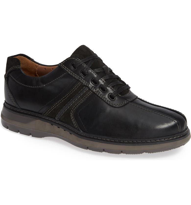 CLARKS<SUP>®</SUP> Un Ramble Go Sneaker, Main, color, BLACK LEATHER
