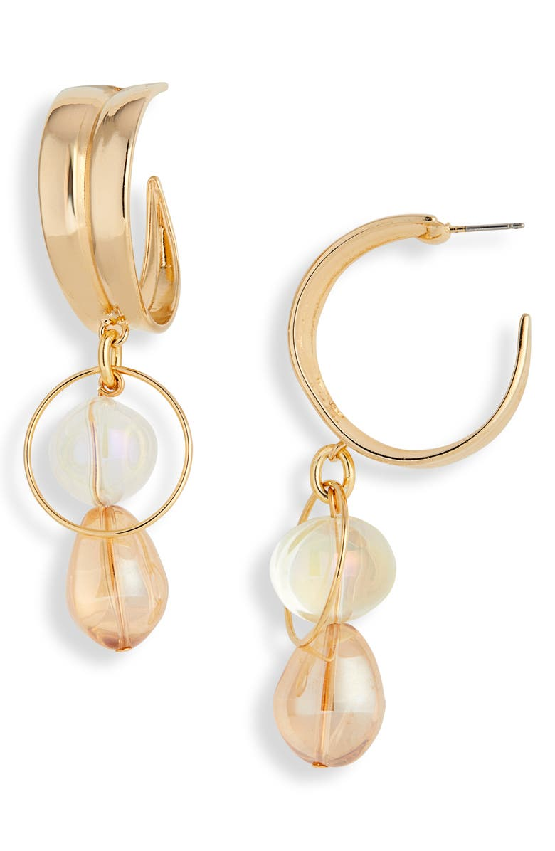 MOUNSER Cirrus Drop Earrings, Main, color, GOLD PEACH