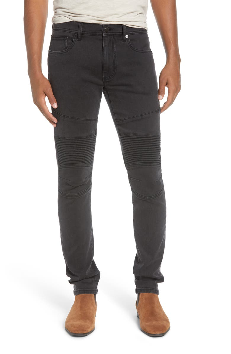BLANKNYC Moto Skinny Fit Jeans, Main, color, ALTER EGO