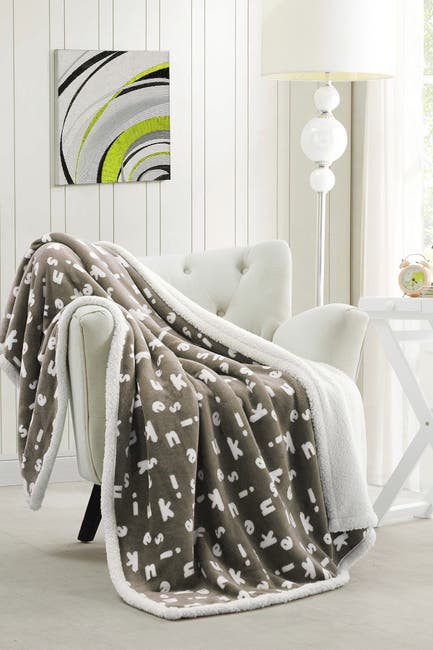 Image of Duck River Textile Mika Kensie Faux Fur Throw - Taupe
