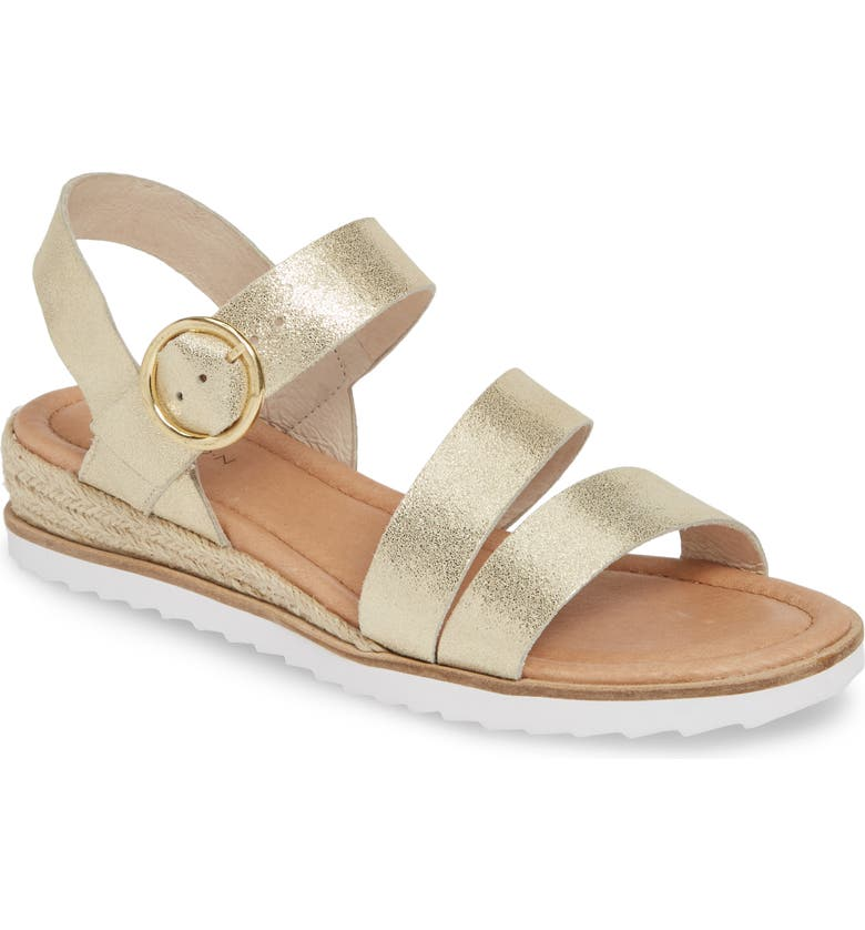 CASLON<SUP>®</SUP> Cameron Espadrille Wedge Sandal, Main, color, SOFT GOLD LEATHER