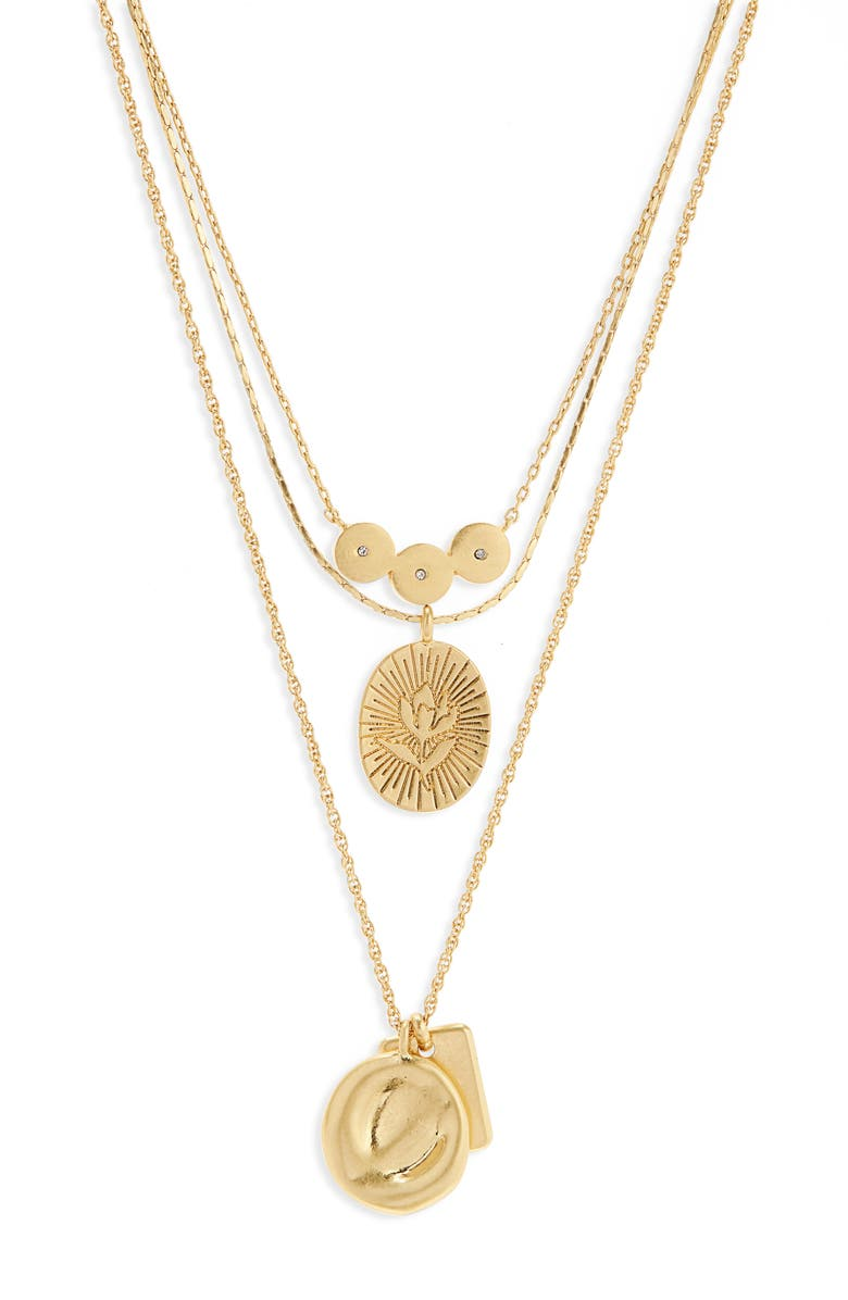 MADEWELL Flower Etched Necklace, Main, color, 716