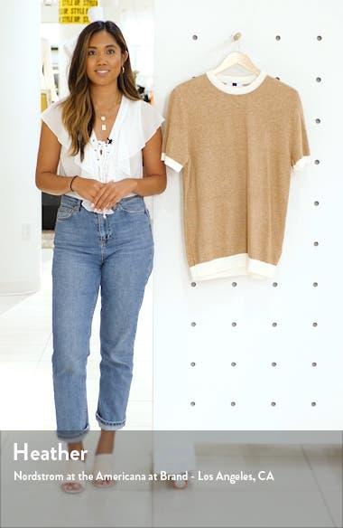 Short Sleeve Sweater T-Shirt, sales video thumbnail